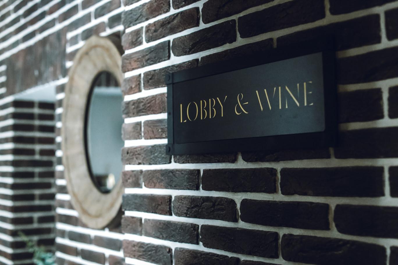Lobby & wine